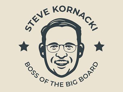 Steve Kornacki t-shirt vector face illustration kornacki steve kornacki nbc