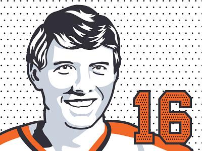 Bobby Clarke sports illustration hockey sports vector illustrator