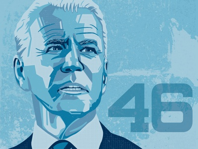 Joe Biden potus president vector illustration illustrator