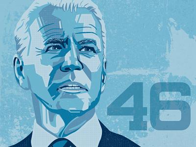 Joe Biden potus president vector illustration illustrator