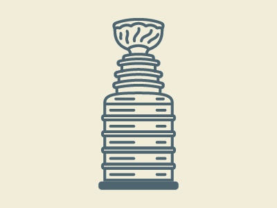 Stanley Cup sports nhl vector line art stanley cup icon illustration hockey