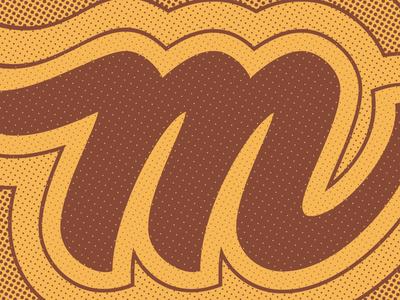 M typography type lettering letter illustrator hand lettering custom lettering 36 days of type