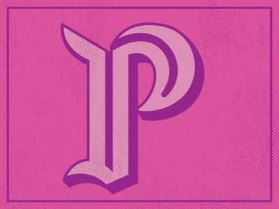P typography type lettering letter illustrator hand lettering custom lettering 36 days of type