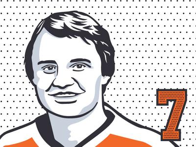 Bill Barber nhl philadelphia flyers design hockey sports vector illustration illustrator