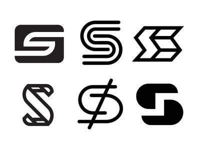 S logo typography type lettering letter illustrator