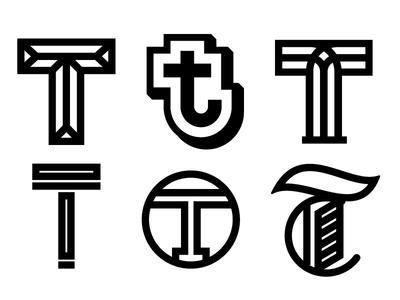T logotype logo typography type lettering letter illustrator
