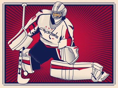 Braden Holtby goaltender goalie phantasm braden holtby hockey vector sports illustration illustrator