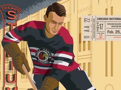 Chicago Blackhawks nhl blackhawks chicago hand lettering design typography illustrator hockey sports illustration
