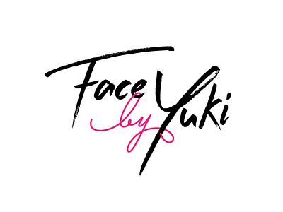 logo for Face By Yuki pink black up make logo