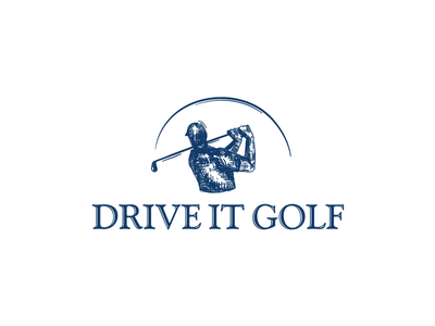logo for Drive it Golf skatch logo drive golf