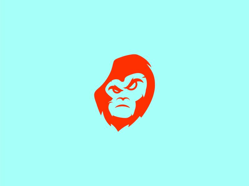 ape mascot gorilla monkey angry ape illustration minimal symbol simple mark icon logo