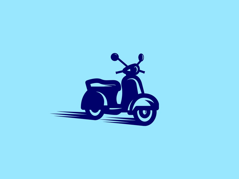scoot scoot symbol fast mark icon logo motorcycle bike vespa scooter