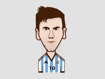 Messi messi graphic design illustration cartoon caricature