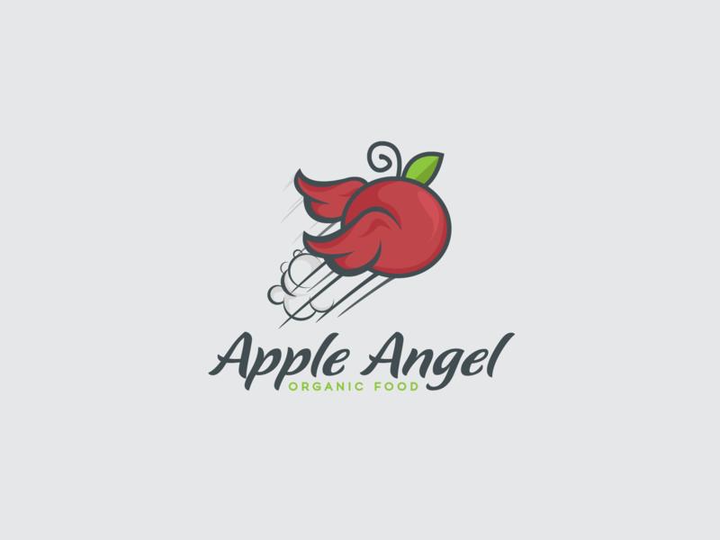 Apple Angel © logo design kiểu chữ building brand hình minh họa icon design vectơ logo