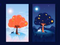 A Night Among Trees