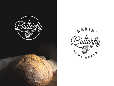 Bakin' Butterfly - Home Bakery Logo bakery logo bakery branding logo typography vector