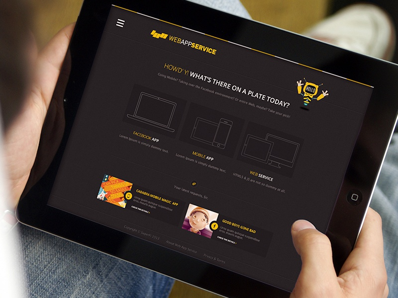 Dashboard dashboard web design