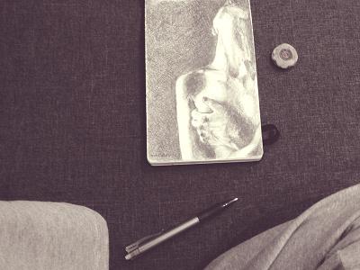 Myśli nieuczesane Vol. 1 [Dirty Mind Vol. 1] pencil drawing sketch moleskine dirty