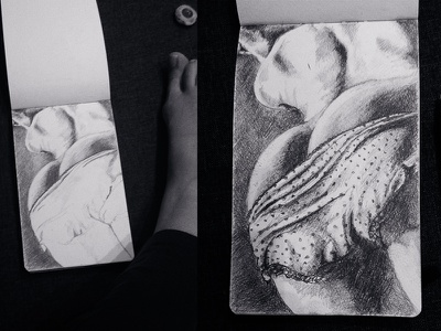 Myśli nieuczesane Vol. 2 [Dirty Mind Vol. 2] sketch drawing moleskine dirty pencil
