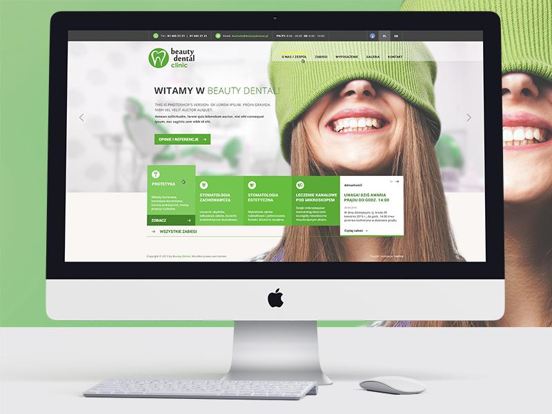 Beauty Dental teeth green website dentist
