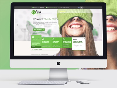 Beauty Dental teeth green website dentist