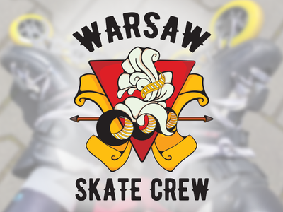 Warsaw Skate Crew T-shirt skating rollerskating rollerskate design skater inline skate vector t-shirt