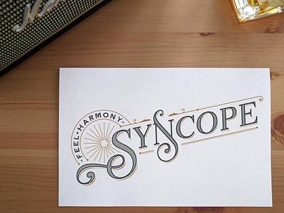 Syncope music logo vector typogaphy