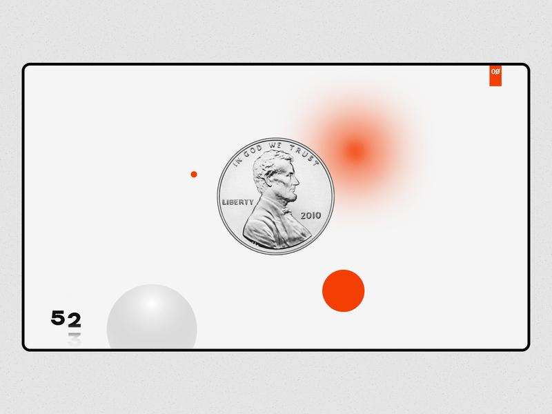 Preloader glow sphere coin ui web