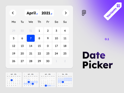 Date picker free figma variants day of week day of week day calendar date date picker