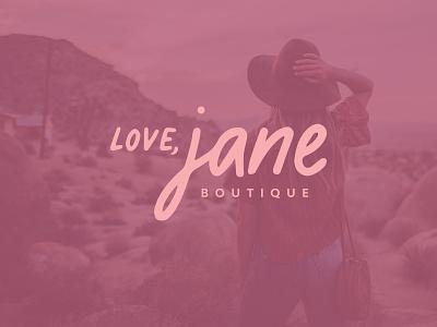 Love, Jane Boutique Branding identity womens fashion boutique jane logo branding love