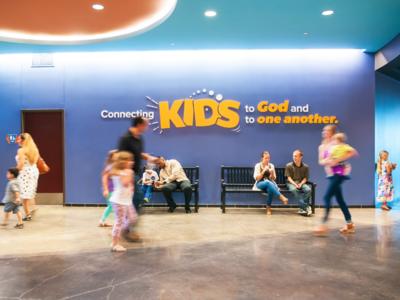Crossroads Kids Logo + Mission Statement Signage