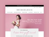 Wedding Dress Ecommerce Website Concept