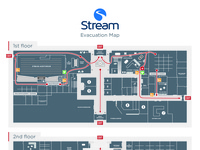 Stream Evacuation Route Map