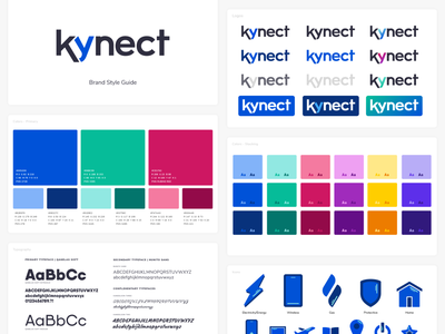 Kynect Style Guide branding agency kynect color pallete iconography icon type setting typography color branding and identity style guides branding style guide