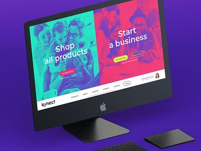 Kynect Website Concept digital product responsive website concept web design branding uiux ui ui  ux webdesign website