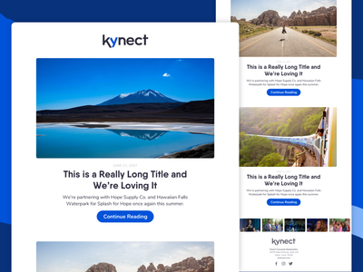 Kynect Blog Recap Email email template network marketing mlm responsive footer email marketing email design ui  ux uiux mobile ui mobile transactional email blog blog post blogger