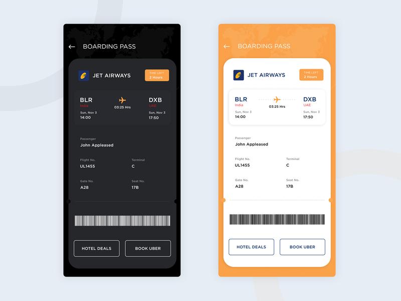 Boarding Pass Design pass boarding ui ticket ui airport app air ticket ticket boardingpass