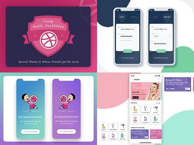 Best shot 2018 beautyapp illustration debut shot login design