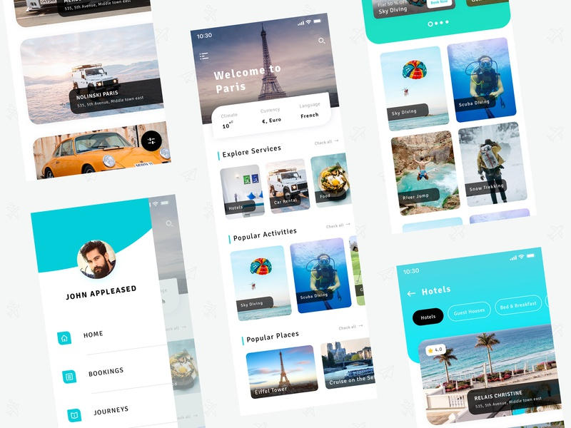 Travel App userinterface mobile ui mobileapp adventure exploration travelui destination holidays vacations tour trip travel travelapp