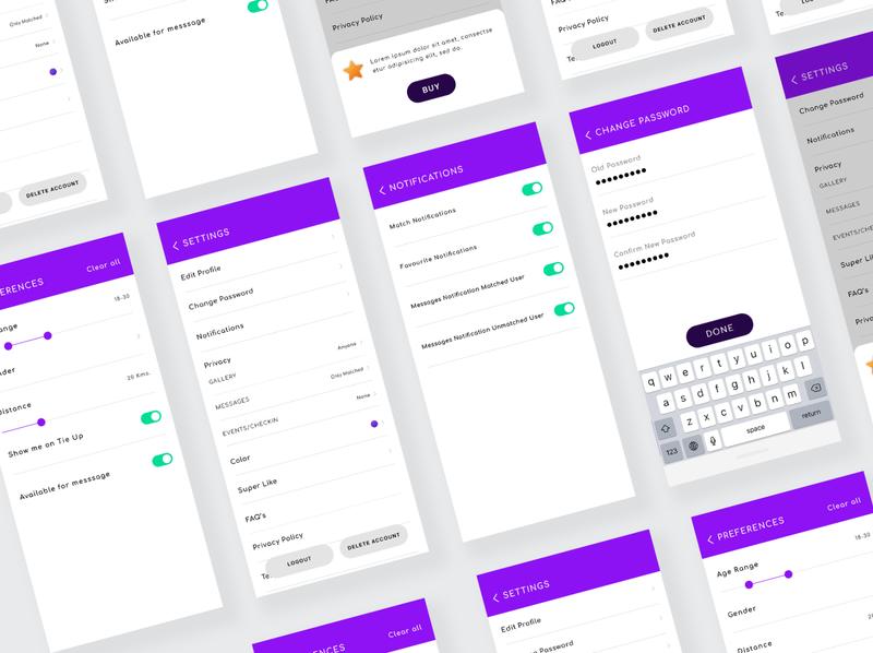 App Settings Interface manage account settingapp settingui settings design accountsettings update buy edit preferences notifications settings app settings