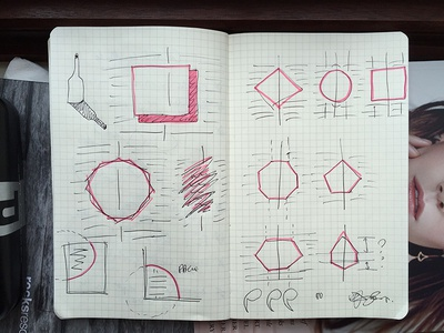 Sketches layouts for next issue of Glass Magazine