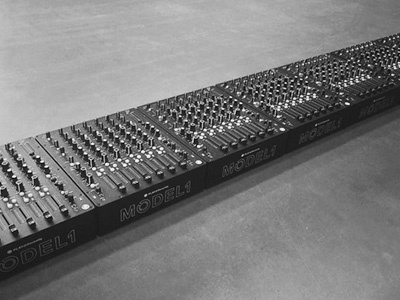 A row of MODEL1 mixers for ENTER. ADE