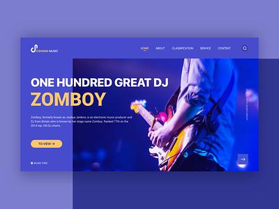 Music Web web logo music icon design ui typography vocal concert