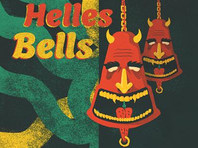 Helles Bells Illustration can character concept portrait japanese samurai face devil monster character art beer packaging branding packaging helles beer character animation illustration drawing design chain bells character design