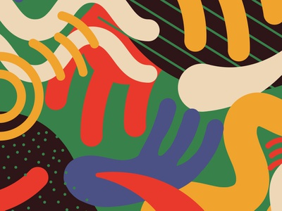 Google Pattern: Jazz branding ui illustration tech swoosh fork small business swatch art abstract shapes swirl curve vector design mobile smallthanks pattern google jazz