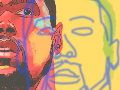 Kevin Durant injury apple ipad sports face portrait art nba basketball warriors pattern color linework texture shape layer draw procreate illustration kevin durant