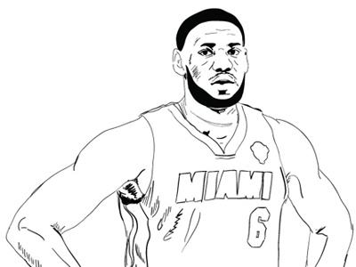 LeBron Rough Draft Outline by Timothy McAuliffe on Dribbble
