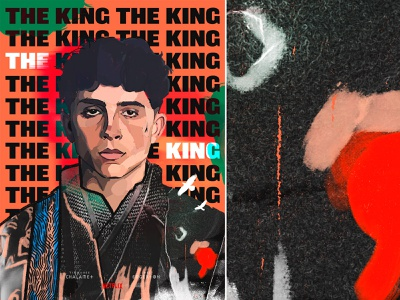 The King england abstract artwork digital painting painting photo collage lettering typography chalamet movie film netflix poster key art portrait drawing design illustration the king