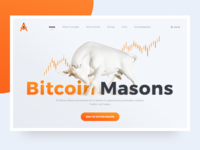 The main screen for Landing page Bitcoin Masons