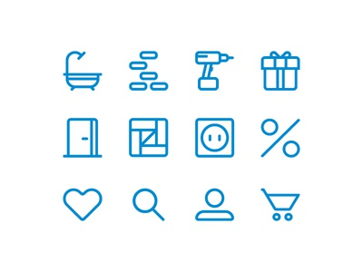 Building Shop Icons